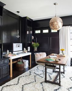 decorology: Inspiring home offices in darker hues