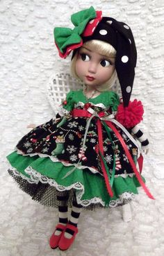 Christmas Dress Set for Your Tonner Patience Doll Sweet Stockings | eBay ragtimedolls