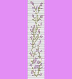 Sweet Lavender Bracelet Bead Pattern Loom and door TheBeadedCat
