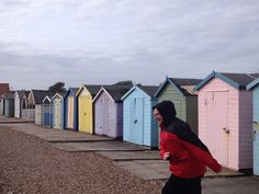 Goring ish Beach Huts, Raincoat, Rain Jacket, Beach Cottages
