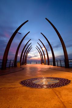Umhlanga Pier, looks like a whale carcass. Durban South Africa, Between Two Worlds, Kwazulu Natal, Out Of Africa, The Beautiful Country, Exotic Places, African Countries, Beautiful Places To Visit, Places To Go