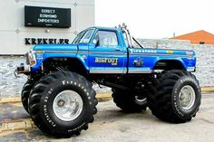 Super Ideas For Monster Truck Bigfoot Lifted Ford 1979 Ford Truck, Lifted Ford Trucks, Car Ford, Cool Trucks, Pickup Trucks, Mudding Trucks, Ford 4x4, Big Monster Trucks, Monster Jam