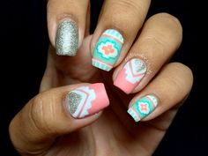 celinedoesnails: A is for Aztec! This is the first design for...