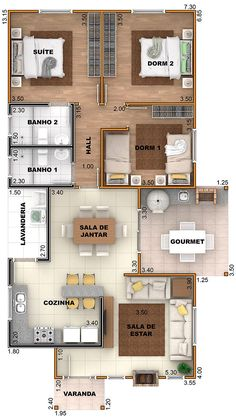 Simple House Plans, Small Modern House Plans, Dream House Plans, House Floor Plans, Sims 4 House Design, Duplex House Design, Small House Design, House Layout Plans, House Layouts