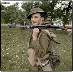 Private D.MacDonald, Royal Canadian Regiment Campobasso, southerrn Italy, October The Bren Gun is a MkII with the sling mounted on the forward tripod fitting. The gun's bipod is the late-model, unadjustable version. Pin by Paolo Marzioli British Army Uniform, British Uniforms, British Soldier, Ww2 Uniforms, Canadian Soldiers, Canadian Army, Canadian History, Military Photos, Military History