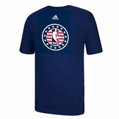 adidas NBA Logoman Veteran's Day Short Sleeve Tee - Navy