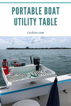 This boat utility table is the answer to all your boat dining problems. With a strong stainless steel grip and easy adjustment, this table can be attached to any boat. Boating Accessories, Boat Cup Holders, Organizing Your Home, Diy Organization, Strong, Stainless Steel, Dining, Easy, Table