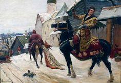 Avilov Mikhail Ivanovich. The guardsmen in Novgorod -