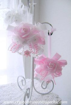 pink roses tree ornament