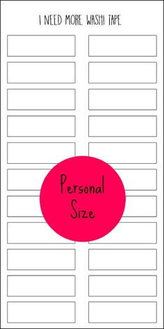 Planner Fun: Reader Request: Personal Size Washi Inventory [printable]