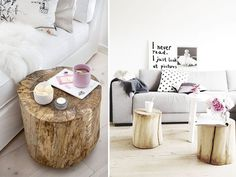 diy inspiration tree stump coffee tables a pair and a spare by apairandaspare, via Flickr