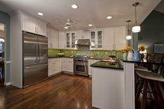 Energetic Eat-In Kitchen - contemporary - kitchen - st louis - Mosby Building Arts @Wellborn Cabinet Inc.  #WellbornCabinet #Glacier