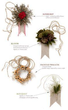 Simone LeBlanc | Forest Floor Gift Toppers via Terrain