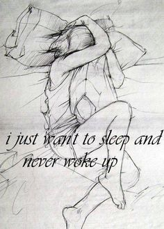 so sad people live this way everyday :( keep waking up ..theres help... #depression