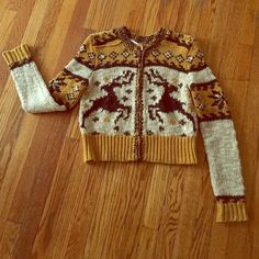 Free People Rudolph Reindeer Cardigan Sweater XS Rare and sought after Free People Reindeer Cardigan Sweater, size XS. Worn once or twice, excellent condition. Marked XS but fits size small easily. Free People Sweaters Cardigans