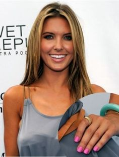 We love Reality TV Star Audrina Patridge's bright colored nails! It reminds of the MiniLuxe nail color, Luxe Bloom!