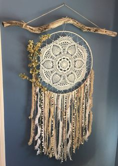 Creative shabby chic decor, truly super scintillating cue to put together, analyze this chic post number 1987512879 immediately. Dream Catcher Bedroom, Doily Dream Catchers, Beautiful Dream Catchers, Dream Catcher Art, Dream Catcher Patterns, Giant Dream Catcher, Making Dream Catchers, Shabby Chic Wall Art, Shabby Chic Decor