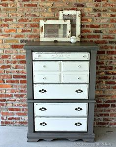 Furniture Makeover~ Two Tone Paint Finish