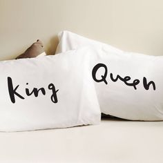 King And Queen Pillow Cases from notonthehighstreet.com