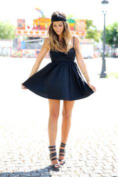 Black Tie Back Dress #choies #black #dress #fashion