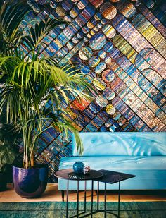 Mosaic tiles, a unique piece of Charles Gianferrari Mosaic Wall, Mosaic Tiles, Deco Design, Design Trends, Modern Colors, Eclectic Decor, Contemporary Interior, Interior Styling, Interior Design