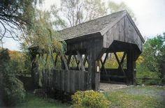 the Americana Village Bridge, Madison County, New York