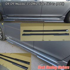 MS Aero Style Side Sills Skirts (ABS) Fits 04-09 Mazda 3