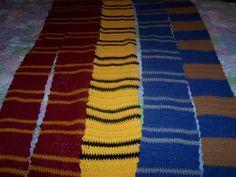 Harry Potter Scarves #scarf free #crochet pattern