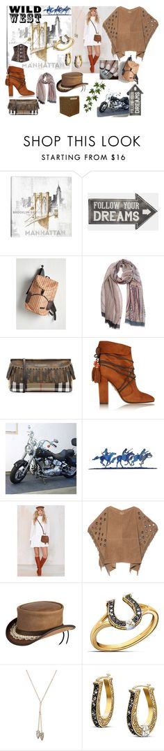 """Wild West"" by zstudiozulma on Polyvore featuring iCanvas, Sass & Belle, Monza, Burberry, Aquazzura, Nila Anthony, True Religion, Overland Sheepskin Co., The Bradford Exchange and Frasier Sterling"