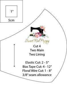 Sew a Close-Fitting Fabric Mask with Bias Tape or Elastic and a Flexible Nose Wire. # Sew a Close-Fitting Fabric Mask with Bias Tape Sewing Patterns Free, Sewing Tutorials, Sewing Hacks, Dress Tutorials, Easy Face Masks, Diy Face Mask, Bias Tape, Techniques Couture, Sewing Techniques