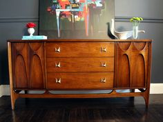 Mid Century Modern Broyhill Brasilia Credenza or Buffet- This piece is currently R E S E R V E D. $1,095.00, via Etsy.