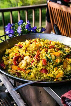 Paella, Chutney, Hummus, Pesto, Ethnic Recipes, Food, Essen, Meals, Chutneys