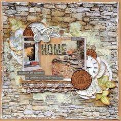 Kaisercraft DT - Provincial Living (My Happy Scrap Space) Mixed Media Scrapbooking, Scrapbooking Ideas, Scrapbook Pages, Scrapbook Layouts, Embossed Paper, Ink Stamps, Life Is An Adventure, Layout Inspiration, Embossing Folder