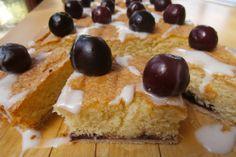 Cherry Bakewell Slice Bakewell, Sweet Stuff, Cheesecake, Cherry, Pudding, Baking, Desserts, Food, Deserts