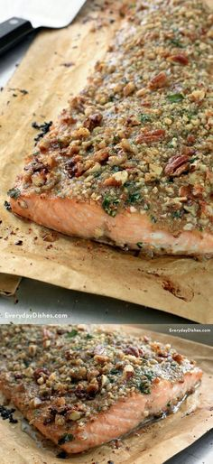 Pecan-Crusted Honey Mustard Salmon