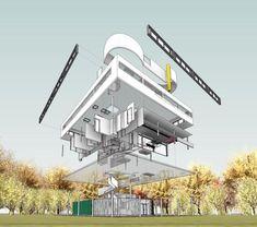 Villa Savoye Revit Model - Le Corbusier_2014 update by samuel macalister, via Behance