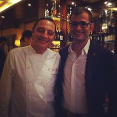 Argiolas wine tasting in Hong Kong: Wine dinner at the VaBene restaurant  with Antonio Argiolas and executivechef Gabriele