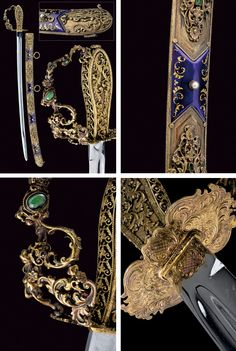 A decorative sword with silver mounts.    provenance:	 	Austria dating:	 	late 19th Century.
