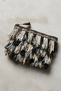 $49.95 marked down from $78! G-Lish Confetti Fringe Clutch #fringe #clutch #anthropologie