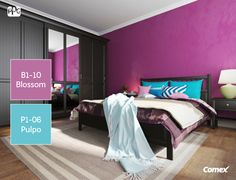 Transmite calma agregando detalles color violeta en la decoración de tu habitación. Pregunta por nuestra familia de tonos para encontrar tu favorito. #ComexTips #Comex #Colorful #Inspiracion #ideas