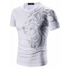 Tattoo Printing Casual Mens Tshirt