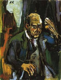 Portrait of the Composer Arnold Schoenberg (1924) by Oskar Kokoschka