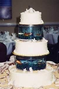 fishing themed wedding - this is pretty crazy. Then add wildflowers around cake