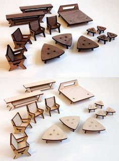 laser cut furniture small - Google Search