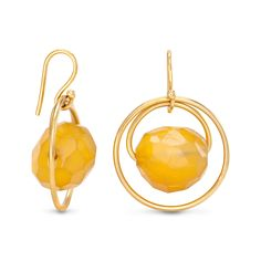 Vermeil Eugenia By TOUS Cercle collection earrings with ocher agates. (Vermeil: 18kt gold-plated sterling silver).TOUS WASHINGTON DC