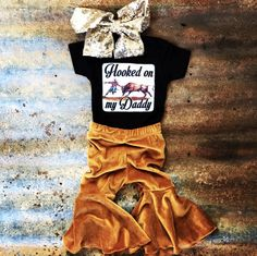 Hooked on My Daddy Bullfighter Onesie Baby Girl Clothes Bullfighter Daddy Hooked Onesie Western Baby Clothes, Western Babies, Baby Kids Clothes, Country Babies, Country Baby Clothes, Baby Kind, Baby Love, Baby Baby, Baby Newborn