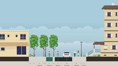 Can You Design A Liveable Street? This new tool lets you mash up bike lanes, sidewalks, parks, and car lanes to see what kind of arrangements might make the most sense for your city. Open up Streetmix, and name your street. Then you can start dragging elements into place: car lanes, bike lanes, trees, planting strips, lamp posts, pedestrians, buildings, and so on. You set the street's width yourself, anywhere from 10 to 400 feet.