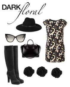 """""""Floral is the new black"""" by nathaliagoomes on Polyvore featuring Yves Saint Laurent, Sergio Rossi, By Malene Birger, Tom Ford, Givenchy, Accessorize, blogger, fashionblogger, floraldress and fashionset"""