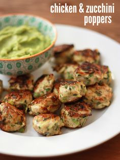 Chicken & Zucchini Poppers (GF, DF, Paleo, Whole30) // One Lovely Life