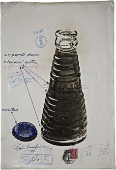 Campari Soda bottle, designed by Fortunato Depero, 1930's @Yulia Krupennikova Official #depero #advertising #halloffame